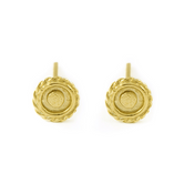 Small Earrings - Solid 14k Gold Round Studs - Anna