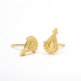 Small Post Earrings in Solid 14k Gold - Angelina