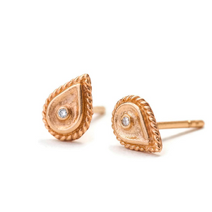Diamond Earrings in Solid 14k Gold - Madeleine