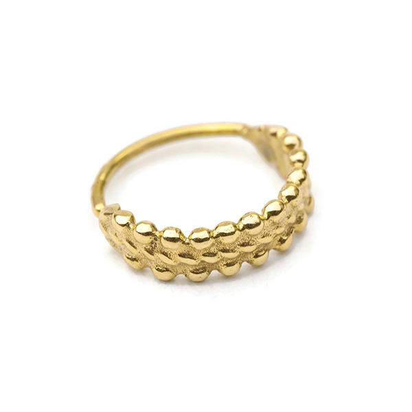 14k Solid Gold Cuff Nose Ring Jewelry - Anouk