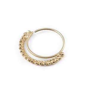 14k Gold Stylish Indian Nose Ring Jewelry - Hannah P