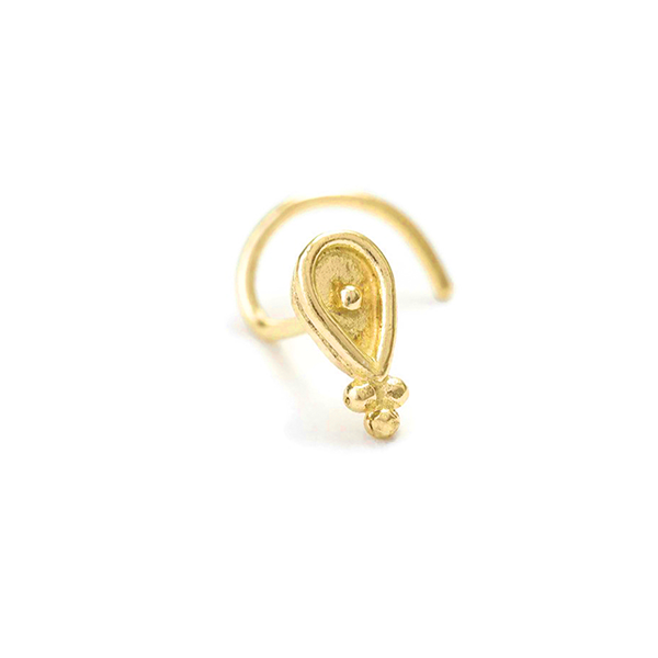 14k Gold Custom-Fit Tiny Nose Stud Jewelry - Vanessa