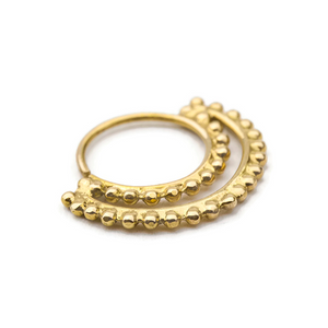 14K Solid Gold Moon Shape Nose Ring Jewelry - Johanna