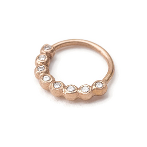 14K Gold Nose Ring Jewelry With Diamonds Accent - Alexia