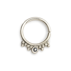 14k Solid Gold And Enamel Septum Nose Ring Jewelry - Chloe