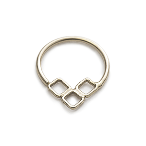 14 k Solid Gold  Septum Nose Ring Jewelry - Brooke