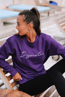 Purple Crew Neck Sweatshirt - Ivysister