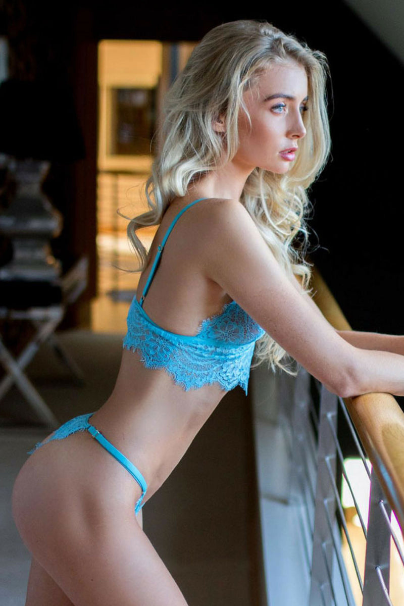 Alicia Blue Lace Intimates Set - Ivysister