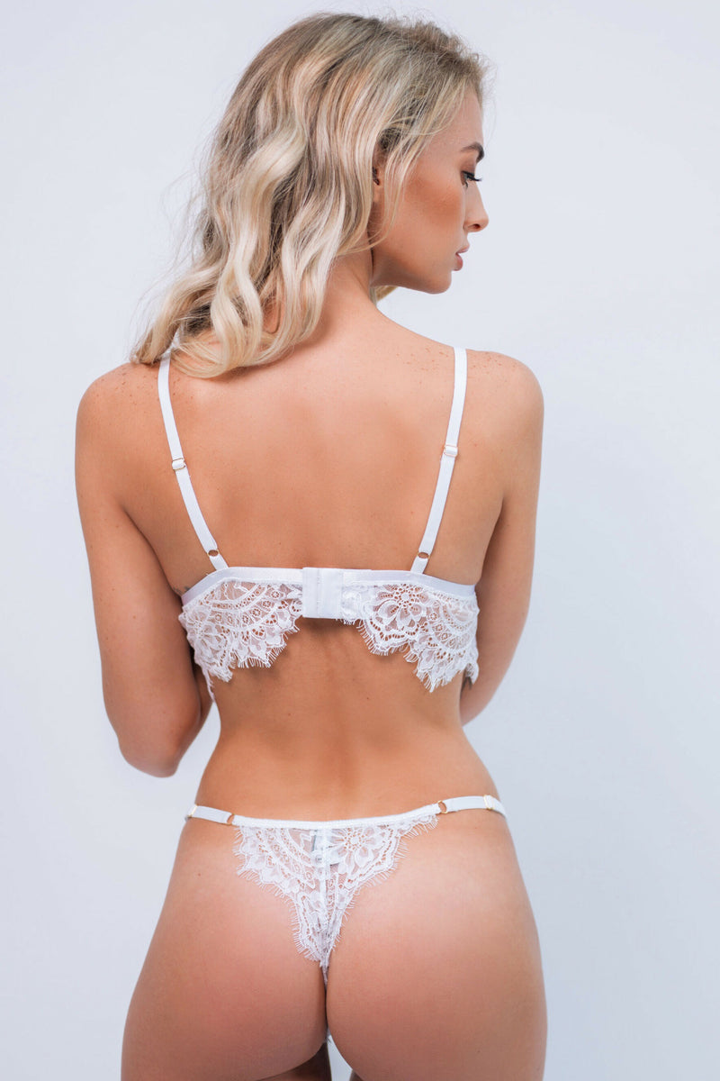 Alicia White Lace Intimates Set - Ivysister