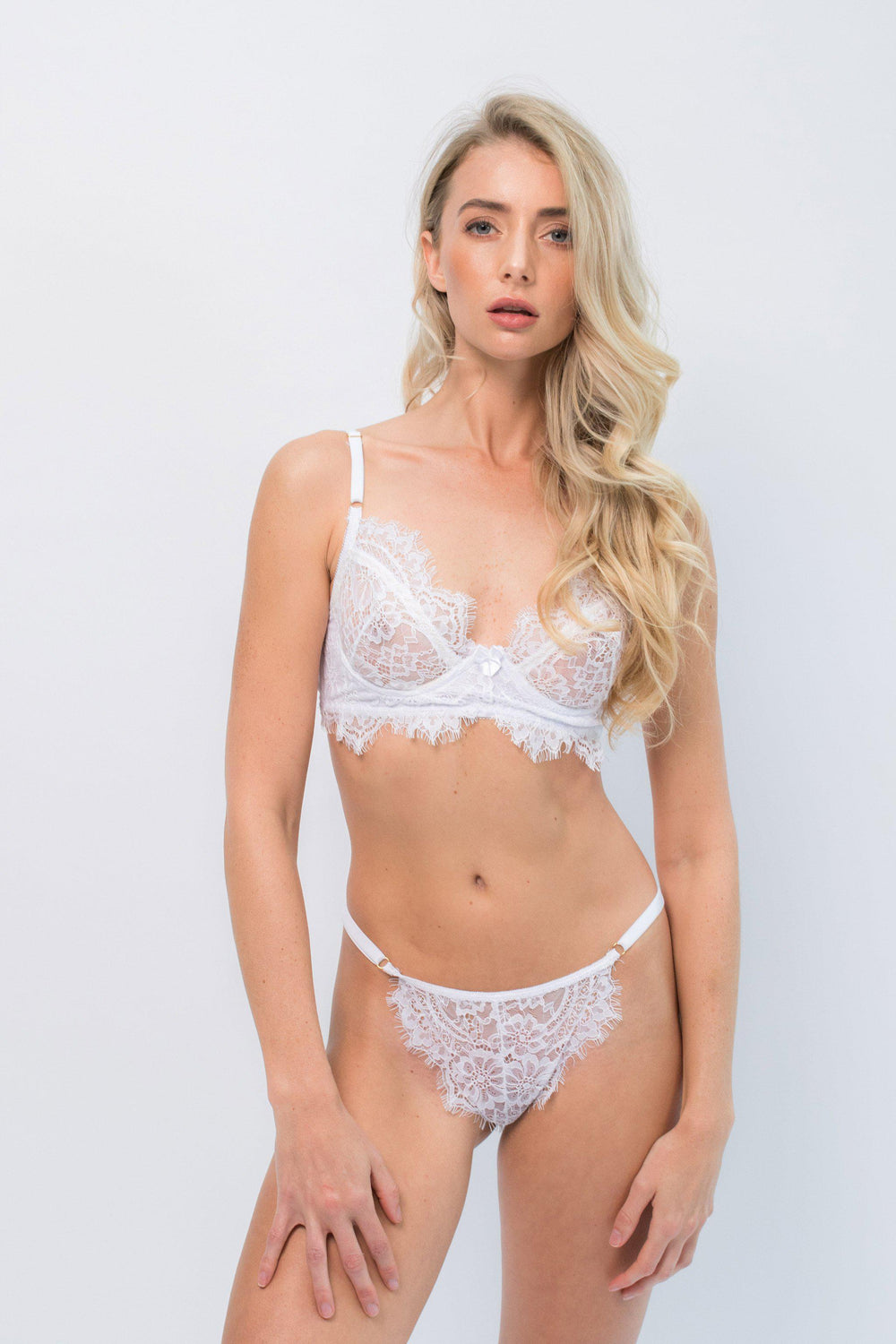 Liliana White Underwire Intimates Set - Ivysister