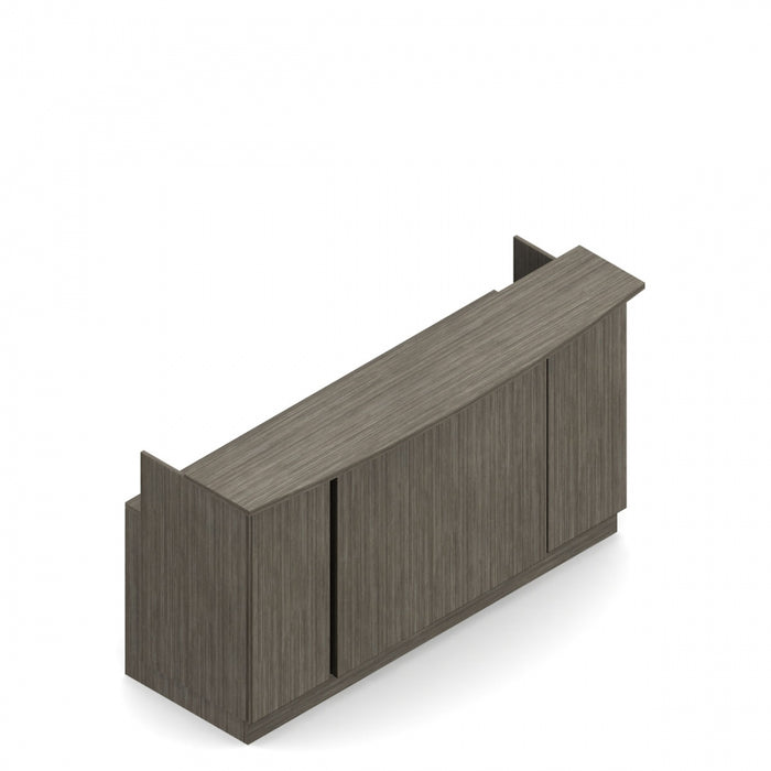 "Zira Bow Front Reception Desk, 89.4""W x 30""D"