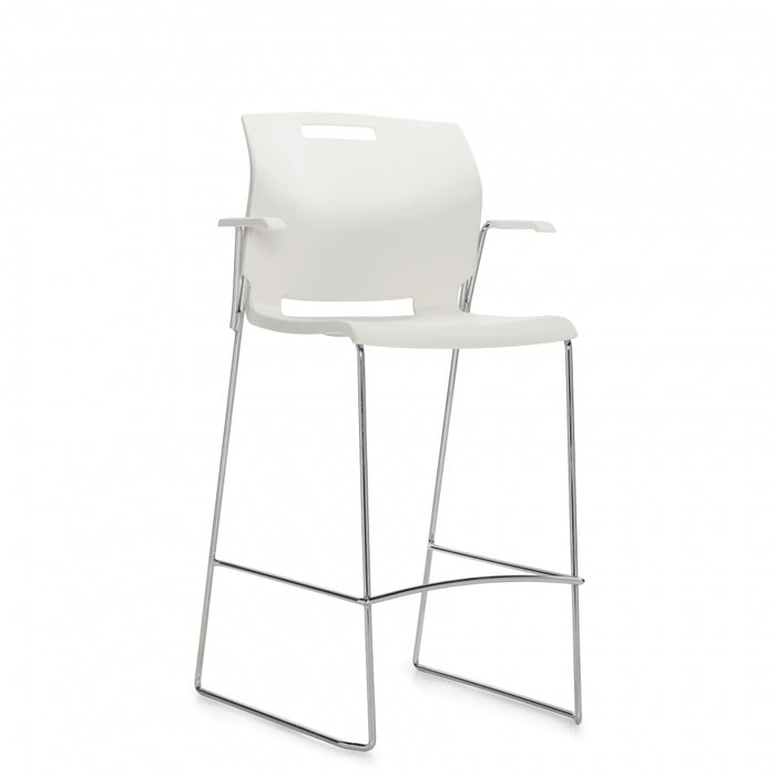 Popcorn™ Barstool with Arms, Polypropylene Seat & Back (6710BS)