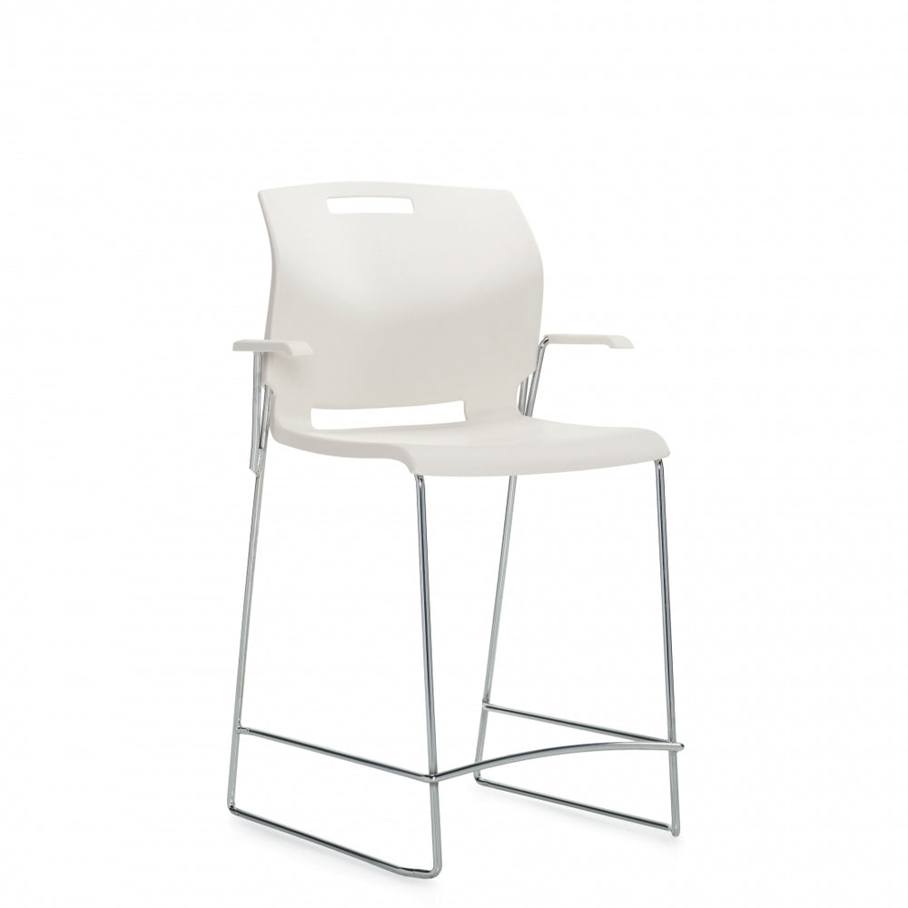 Popcorn™ Counter Stool with Arms, Polypropylene Seat & Back (6710CS)