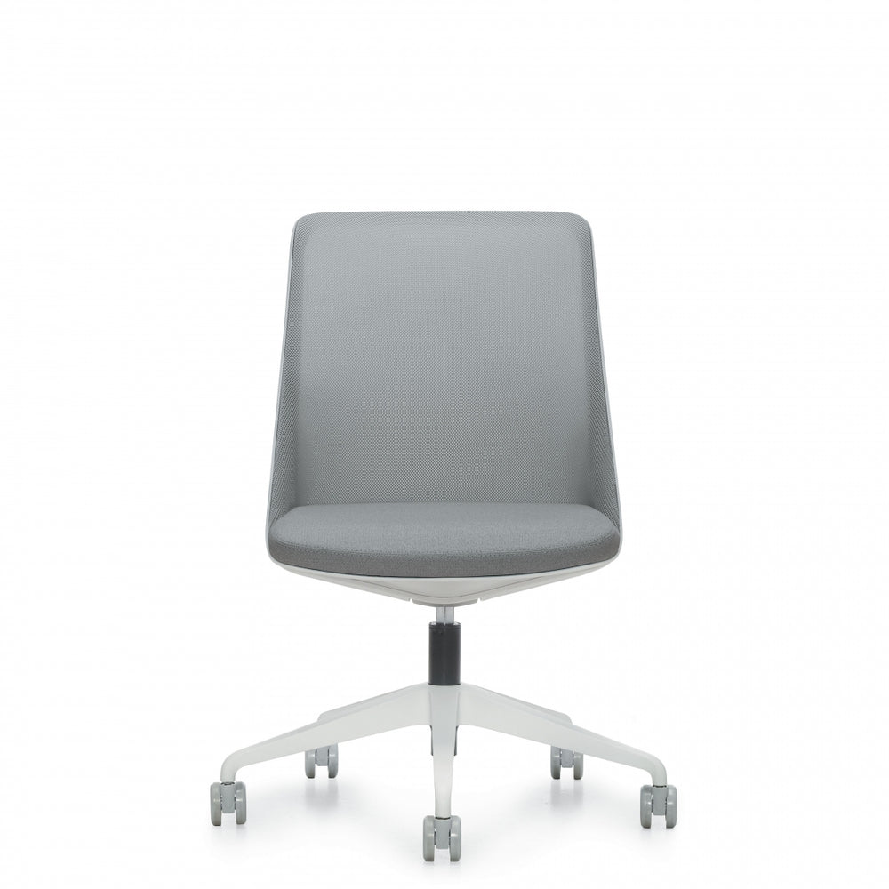 Prefer™ Armless Multi-Task Chair, Alabaster Frame & Base (8459NA)