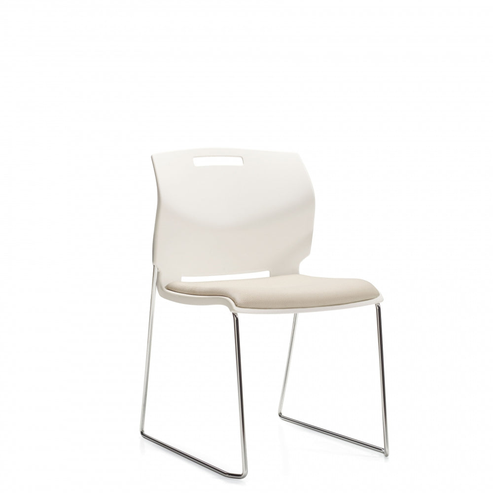 Popcorn™ Armless Chair, Upholstered Seat & Polypropylene Back (6713)