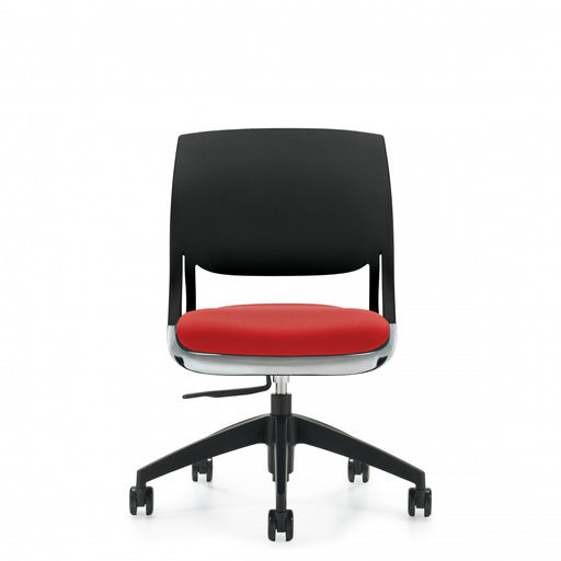 Novello™ Armless Task, Upholstered Seat & Polypropylene Back (6401)