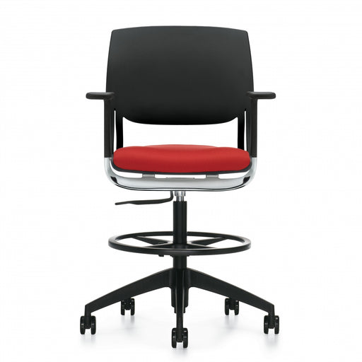 Novello™ Task Stool, Upholstered Seat & Polypropylene Back (6410)