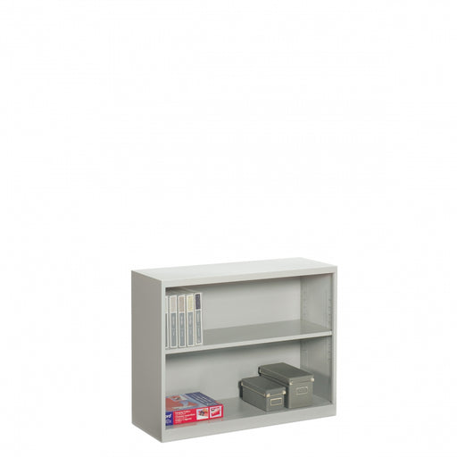 2 Shelf Metal Bookcase