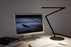 Koncept Z-Bar Desk Lamp with Base (Warm Light; Metallic Black)