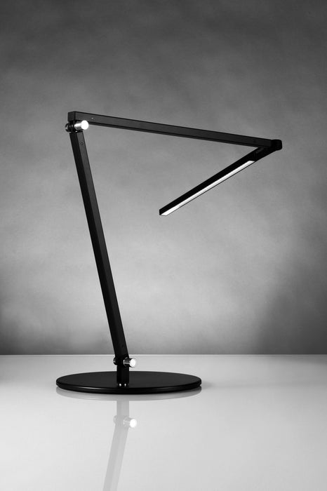 Koncept Z-Bar LED Desk Lamp with base (Cool Light; Metallic Black)