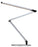 Koncept Z-Bar LED Desk Lamp with base (Warm Light; Silver)