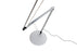 Koncept Z-Bar Desk Lamp with one-piece desk clamp (Cool Light; Silver)