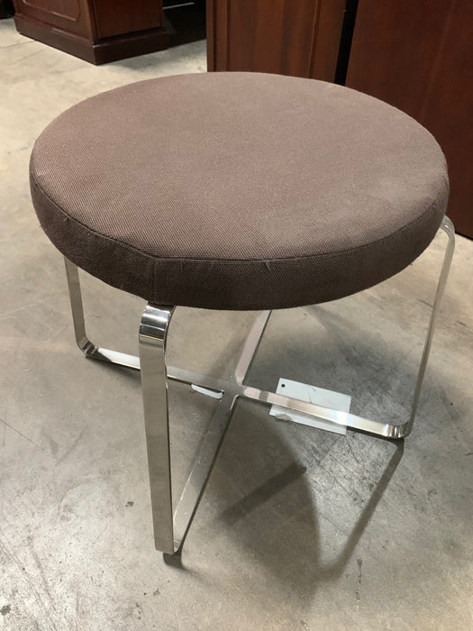 Bernhardt Round Stool in Brown