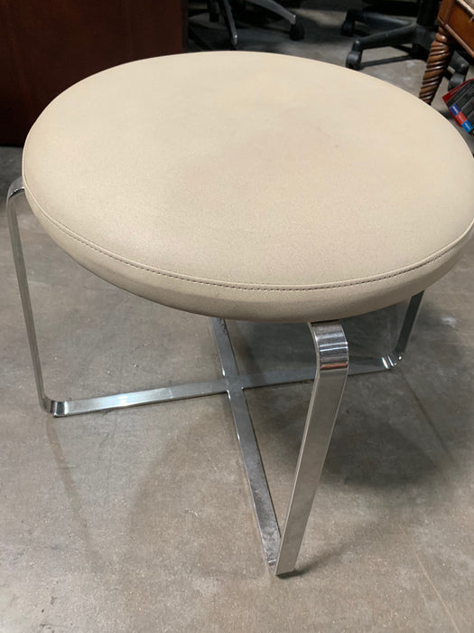 Bernhardt Round Stool in Tan