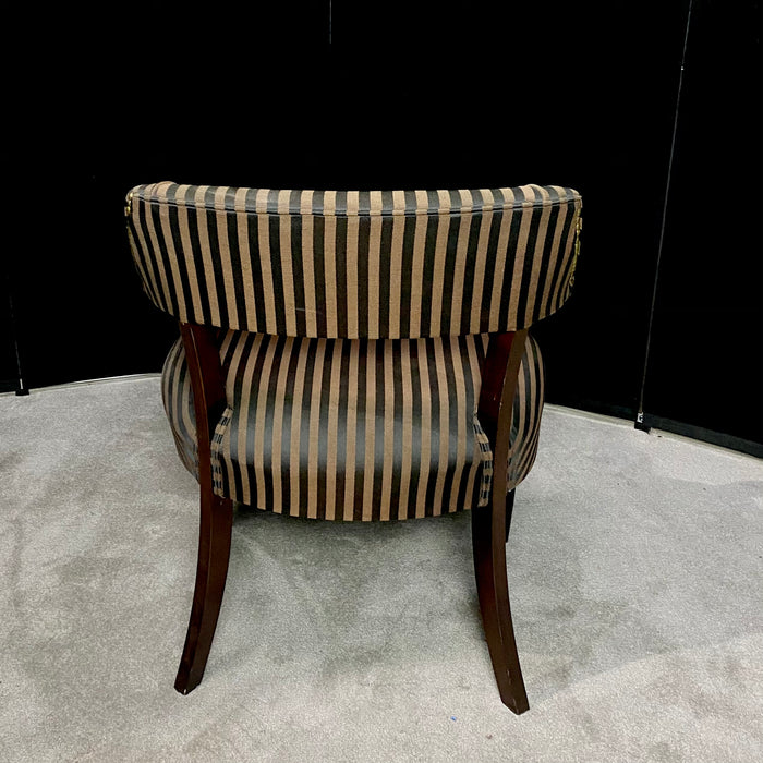 Paoli Striped Guest Chair Black/Brown