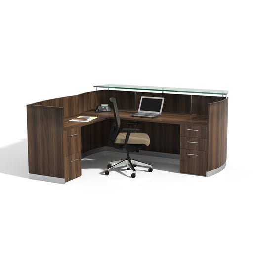 Medina™ Reception Station with Return, B/B/F & F/F Pedestals