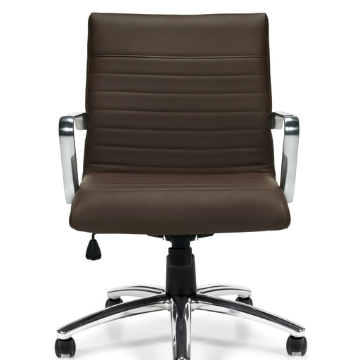 Luxhide Mid-Back Executive Office Chair
