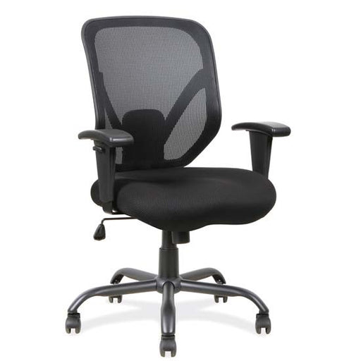 Big and Tall Mesh Task Chair with Black Steel Heavy Duty Base