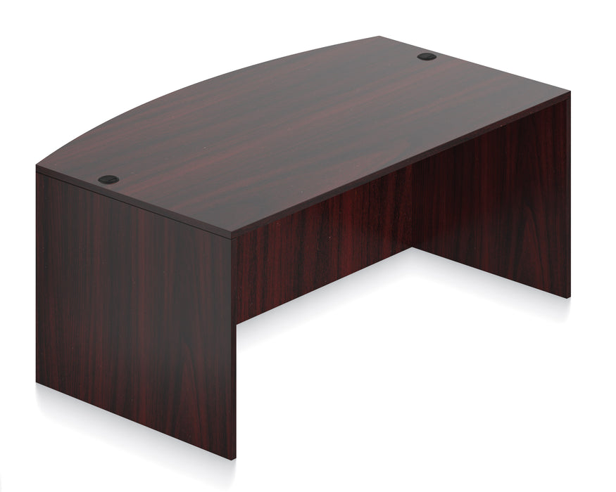 Superior Laminate Desking Bow Front Desk Shell