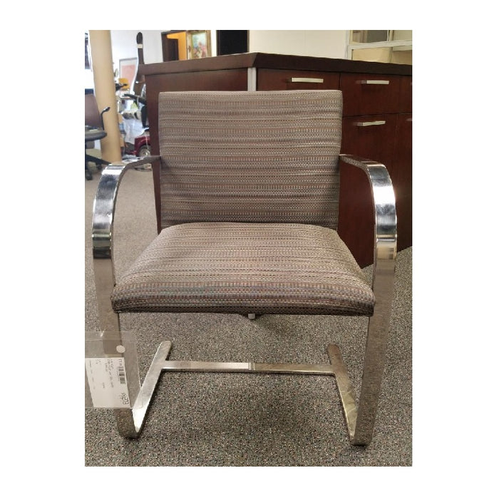 BRNO Gray Fabric Chrome Sled Base Guest Chair