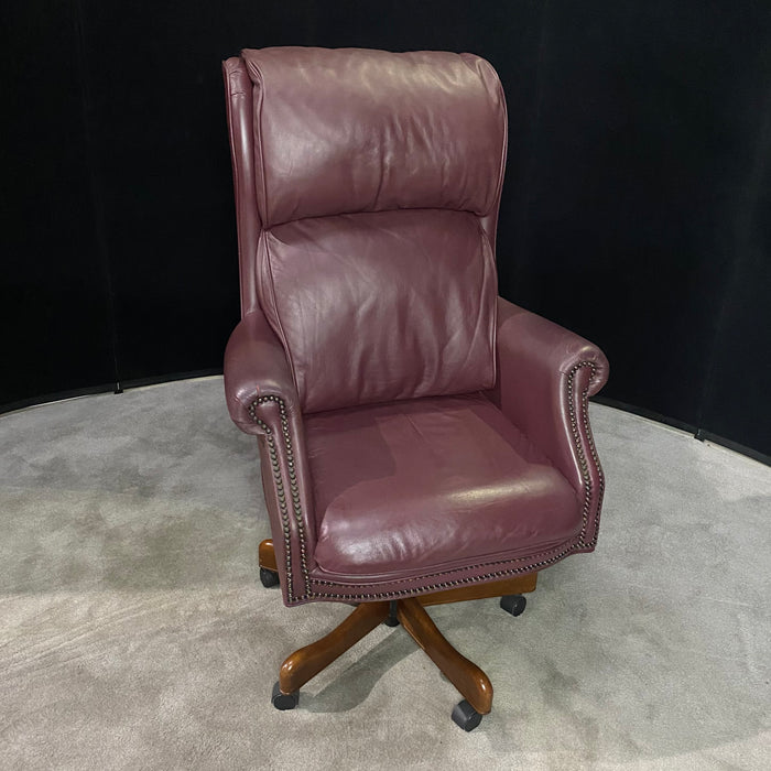 Burgandy Leather Executive Office Chair