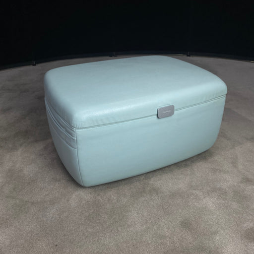 Coalesse Leather Stroage ottoman Light Blue