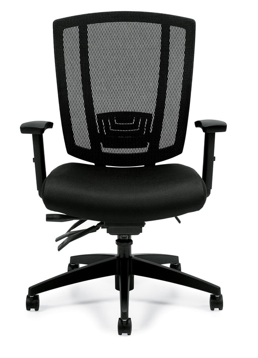 Multi-Function Chair; Upholstered Seat & Mesh Back