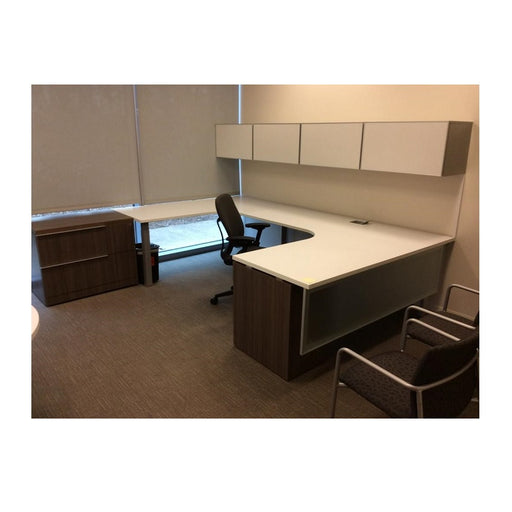 Steelcase Answer U-Group Desk with Hutch