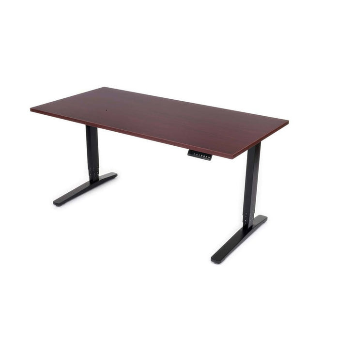 Steelcase 30x60 Sit to Stand Desk Mahogany Laminate Top