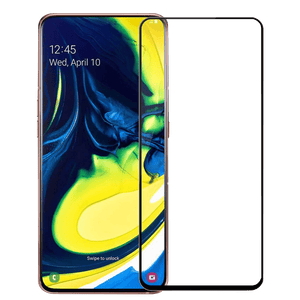 Black 3D Edge to Edge Tempered Glass For Samsung Galaxy A80