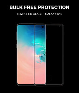 Black 3D Edge to Edge Tempered Glass For Samsung Galaxy S10