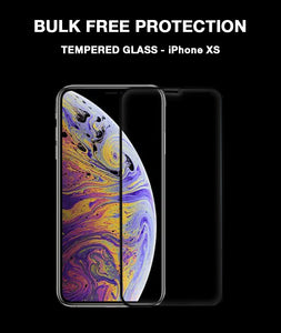 Black 3D Edge to Edge Tempered Glass For Apple iPhone XS