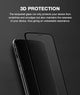 Black 3D Edge to Edge Tempered Glass For Apple iPhone XR