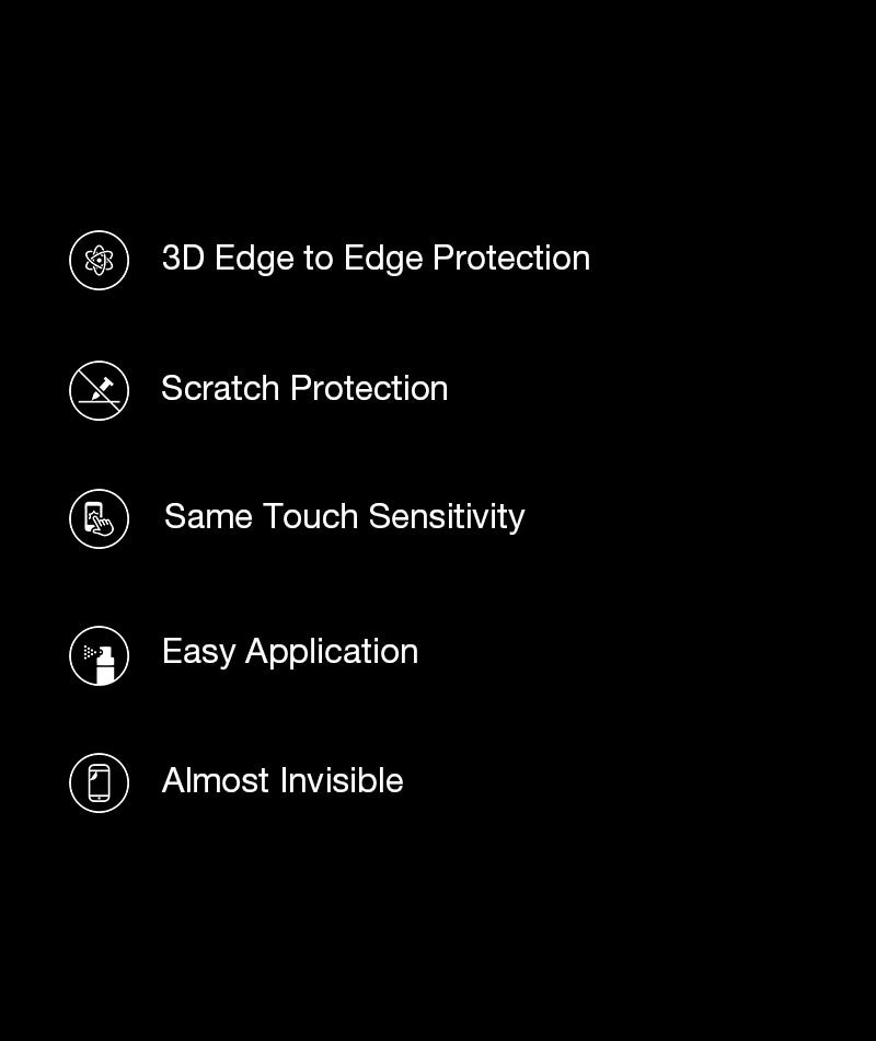 Black 3D Edge to Edge Tempered Glass For OnePlus 7 Pro