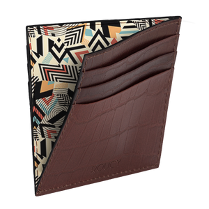 A Maze Croco Embossed Sleek Leather Wallet
