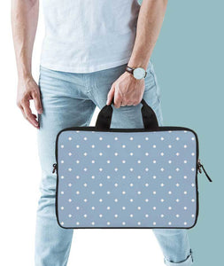 Abstract Minimalist Dots Jade Black Laptop Briefcase 15.6""