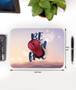 Be Wild And Free Designer Leather Mouse Pad