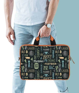 Beer Lover Tan Laptop Briefcase 15.6""