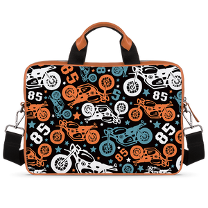 Bike Fest Tan Laptop Briefcase 15.6""