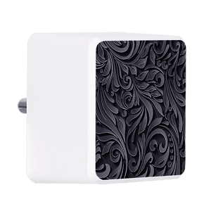 Black and Grey Floral Bolt Wall Charger